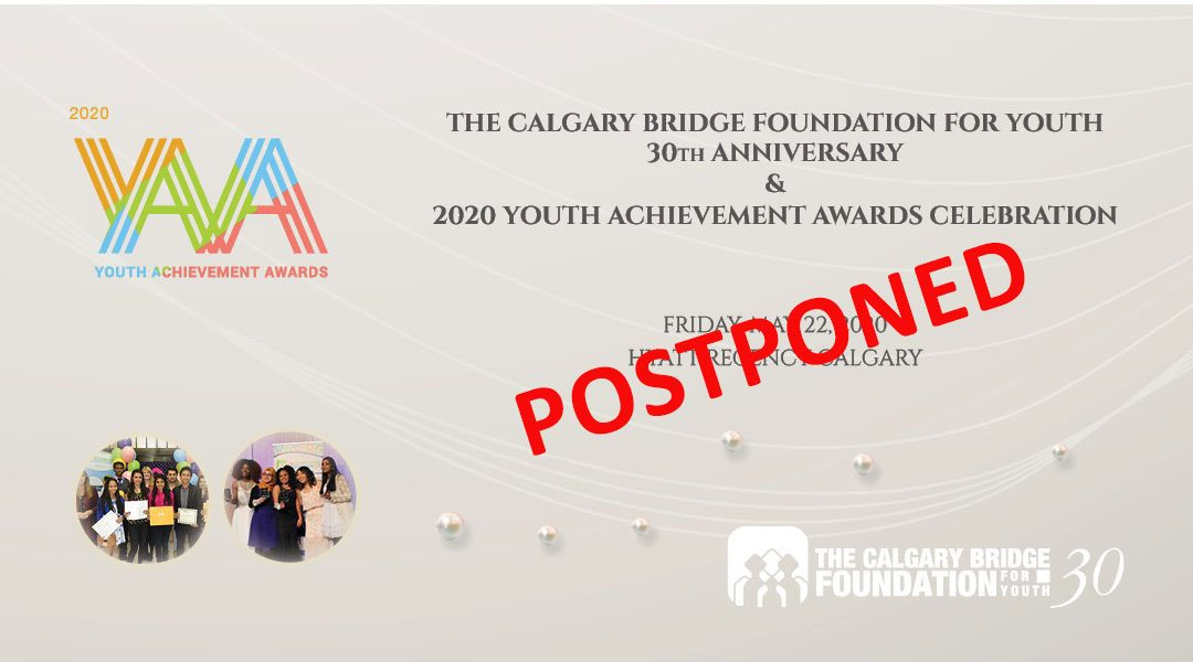 Youth Achievement Awards and CBFY Anniversary celebration is postponed
